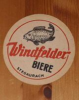 Windfelder Biere Stegaurach (b.Bamberg) Oberfranken Bierdeckel BD