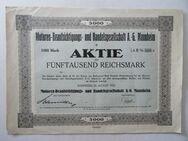 Historisches Wertpapier. Motoren-Beaufsichtigungs- und Handelsgesellschaft A.-G. Mannheim, von 1923 - Königsbach-Stein