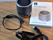 Mini-Lautsprecher, dunkeltürkis verchromt mit LI- Akku - Leverkusen