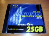 Platinum BD-R 25 GB Speed 6x