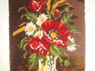 handgeknüpfter Wandbehang, Blumenstrauß - Spaichingen