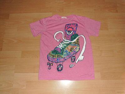 T-Shirt von H&M, rosa mit Motiv, Gr. 170 - Bad Harzburg