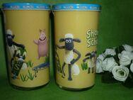 Bautzner KinderSenfglas Sammelglas Shaun das Schaf - fieses Schwein-