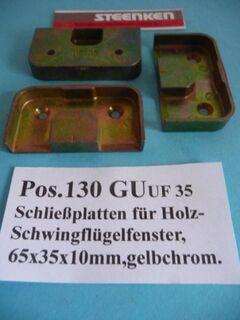 GU-Schließplatten,Eurofalz,18x8mm,silberf. - Ritterhude