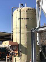 P108 gebrauchter 40.000 L Polyestertank GFK-Tank doppelwandig Flachboden Speidel-Tank inkl. neuwertiges Leckage-Gerät Lagertank oberirdisch guter Zustand