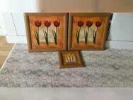 3 schöne Bilder Motiv: Tulpen Rahmen in Buche NEUWERTIG - Hameln