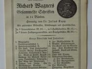 "Verlagswerbung f. Wagners ""Gesammelte Schriften"" (1914)"