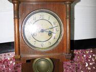 Antike Wanduhr aus Holz / Uhr Deutschland um 1910 / Pfeilkreuz / Restauration - Zeuthen