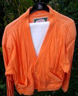 Leichte Stoffjacke (Cardigan-Style), orange XL