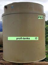 P83 gebrauchter 12.000L Polypropylen-Tank doppelwandig Flachboden guter Zustand Lagerbehälter Wassertank Futtermitteltank Rapsöltank Zisterne Regenauffangtank