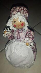Puppe Deko Trachtenpuppe aus Holz