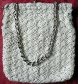 Handtasche, gehäkelt, original aus den 60er Jahren
