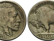 5 Cents 1917 S, USA, Buffalo Nickel - Reinheim