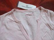 NEU mit ETIKETT * Modern, ausgefallen * Baumwolle * Langarm * Longsleeve * T- Shirt mit Knopfleiste ''TOM TAILOR'' Gr. 40- 42/ M, rosè * - Riedlingen
