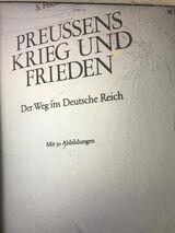 """""""Preussens Krieg und Frieden """" S.Fischer-Fabian."""