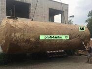 S5 gebrauchter 50.000 Liter doppelwandiger Stahltank Erdtank Wassertank Bitumenbeschichtung Löschwassertank Lagertank Löschwasserbehälter Wasserzisterne