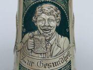 Bierkrug mit Trinklied-Vers u. Relief, ca. 20er-Jahre o. älter - Münster