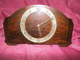 Antike Buffetuhr / alte Kaminuhr 1950 / Holzuhr / Uhr mit Halbstundenschlagwerk