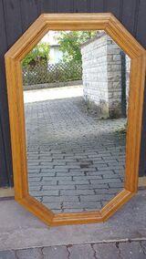 8-Eck-Spiegel mit Rahmen Eiche natur, Höhe 92 cm x Breite 59 cm