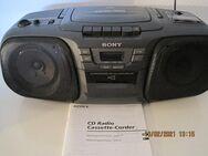 SONY CFD-101, tragbarer Radio/Kassette/CD-Recorder, schwarz - Erlensee