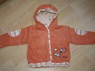 Baby Jacke gefüttert Mädchen Sweatjacke Kapuze dick Hoodie Kinder Sweater Katze Gr. 74 NEU - Sonneberg