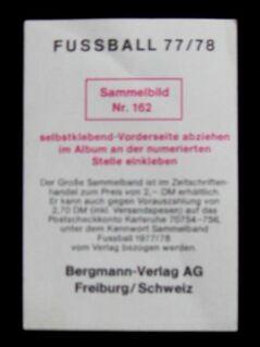 Willi Neuberger - Eintracht Frankfurt ( Fussball 1977/78 ) - Niddatal Zentrum