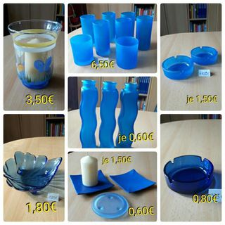 Dekoartikel blau, Gläser, Aschenbecher, Schale - Immenhausen