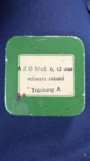 Antike Blechschachtel AEG 6×6 cm - Berlin Friedrichshain-Kreuzberg