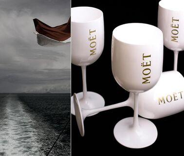 1 Moet Cup CHANDON Acryl Becher Champagnerglas Glas Kelche Gläser - Nienburg (Weser)