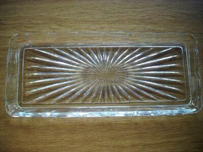 Bleikristall Platte/Servierplatte/Kuchenplatte 36x15,5cm - Furth