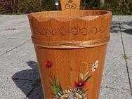 Holzschirmständer mit Bauernmalerei - Rellingen