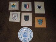 Marine Wappen Abzieher Porzellanteller 1980 Kachel - Bottrop