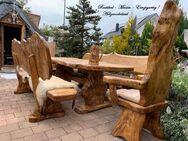 Baum-Tisch Garnitur mit 7 cm Holzstärke. Alles Unikate - Achern