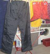 Regenhose für Motorradfahrer schwarz Gr. 38-40