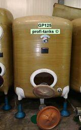 GP125 gebrauchter 5.000L Polyestertank GFK-Tank Weintank Lebensmitteltank Wassertank Regenauffangtank Flüssigfuttertank Molketank Melassetank Lagertank