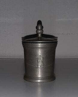 alter Zinn Krug mit Deckel 1/4l Humpen Bayreuther Eichala Reservitenkrug - Nürnberg