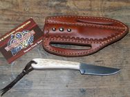 "Buckaroo knife mit ""quick draw"" Leather-Sheath K143 - Ratingen"