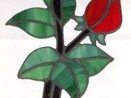 Fensterbild (Handarbeit) aus Glas, Rose verschiedene Ausführungen