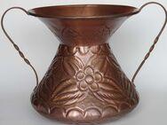 Kupfer-Gefäß (z.B als Vase) mit Relief, Handarbeit aus Italien - Münster