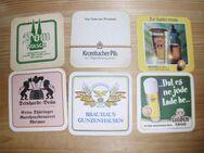 Deutsche Bierdeckel mit 11 verschiedenen Motiven - Merkelbach