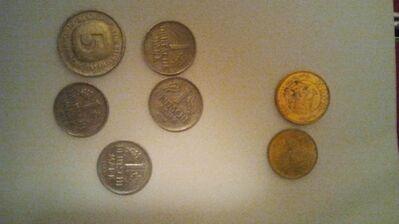 Münzen,Lire,Frornt andere Münze - Zerbst (Anhalt) Zentrum