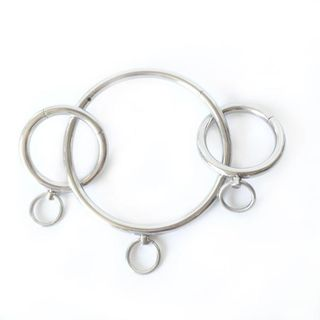 Hals, Hand und Fuß-Fessel Set (5-teilig)abschließbar aus medizinischem Edelstahl mit O-Ring Bondage (NEU) - Bingen (Rhein)