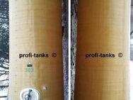 P93 gebrauchter 11.000 L Polyestertank GFK Juno-Tank vertikal stehend Rapsöltank Molketank Melassetank Futtermitteltank Wassertank Lagertank Gülletank