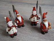 ~ Weihnachtliche Kartenhalter ~ Photohalter ~ Weihnachtsmann ~ Schneemann ~ - Sankt Augustin