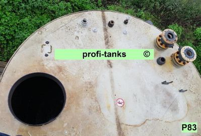 P83 gebrauchter 12.000L Polypropylen-Tank doppelwandig Flachboden guter Zustand Lagerbehälter Wassertank Futtermitteltank Rapsöltank Zisterne Regenauffangtank - Nordhorn