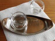 WMF Tablett Salzschale Ölkanne Alt Glas Stahl Edel - Bottrop