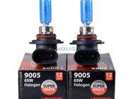 2x HB3 / 9005 Halogenlampen mit Xenoneffekt (Super White), 12 Volt, 60 Watt, 9005, HB3, 60/65 W SW - Berlin