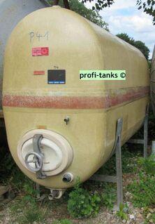 P41 gebrauchter 3000L GFK-Tank Rotband Polyestertank liegend auf 2 Stahlsockeln Wassertank Molketank - Nordhorn
