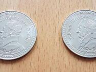 2 x Münze / Medaille Johann Wolfgang von Goethe - Faust Uraufführung - Gera