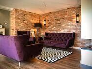 Wohnwand Lounge Kinkerriemchen geschnittener Mauerstein Ziegelriemchen Fliese Wandpanele Wandgestalt - Halle (Saale)